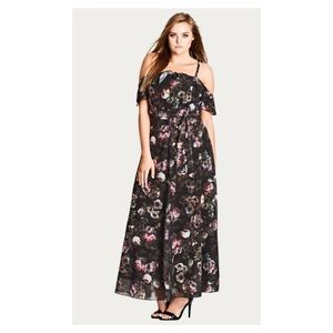Brand New CITY CHIC Vintage Peony Maxi Dress - 18